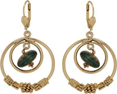 Maisha Designer Loops in Green Alloy Hoop Earring
