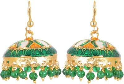 AGRIM Beads Metal Enamel Jhumki Earring Brass Jhumki Earring