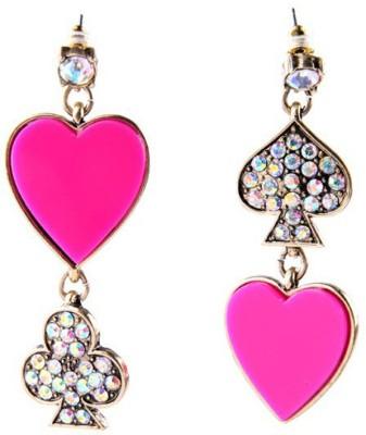 KooKoo Fashion Pink Heart Dazzling Earring Alloy Dangle Earring