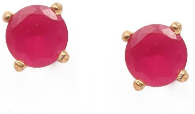 Vanshika Jewels Designer Red Alloy Stud Earring