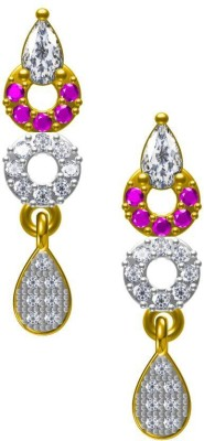 Twisha Twishas New cz Alloy Earrings Cubic Zirconia Alloy Drop Earring