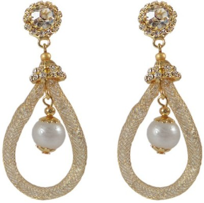 Kenza Pearl and Cubic Zirconia Pearl Alloy Dangle Earring