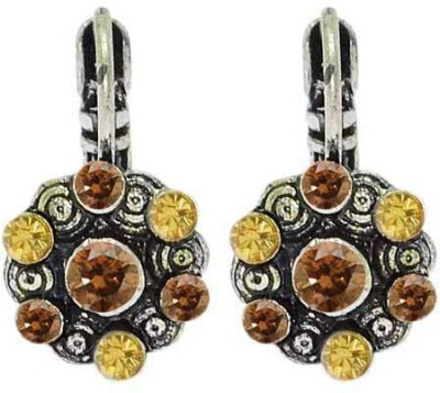 Sanaa Creations Pair of Multi-Color Stone Oxidized for Women Alloy Hoop Earring at flipkart