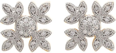 My Sara White For Girls Cubic Zirconia Brass, Copper Stud Earring