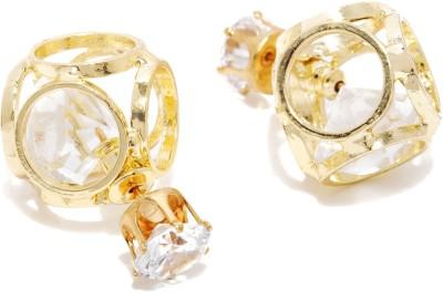 Dressberry Premium Crystal Metal Stud Earring