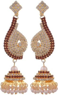 Blacksmith Indian Bride Crystal Metal Jhumki Earring