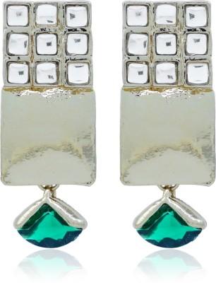BoBell Bo,Bell Fusion Kundan Cubic Ethinc Earring Copper Drop Earring