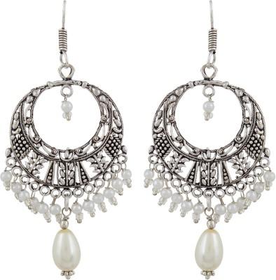 Veracious Jewellery Jhumki White Brass Dangle Earring