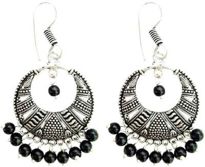 Mehrunnisa Oxidized Silver Tone Bali Metal Dangle Earring