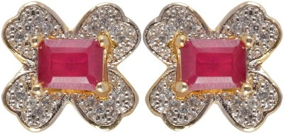 Waama Jewels Golden Brass plating Earring gift for wife wedding fancy Girl jewellery Metal Earring Set