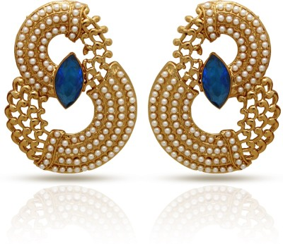 Donna Curvy Pearls Pearl Alloy Drop Earring