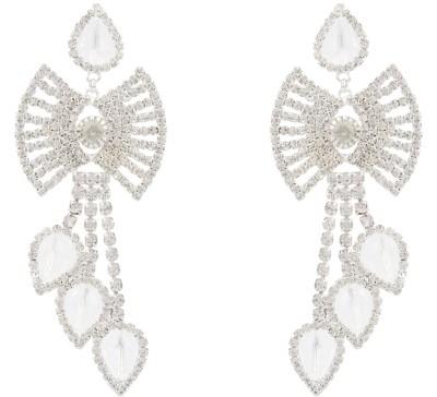 EB stone Diamond Brass Drop Earring