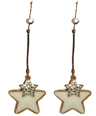 Sparkling Trinkets White Alloy Dangle Earring