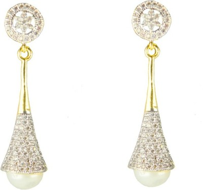JDJ Imitation Jewelleris Lovely Zircon Brass Drop Earring