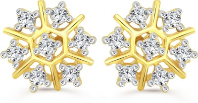 Vighnaharta Clematis Flower Cubic Zirconia Alloy Stud Earring