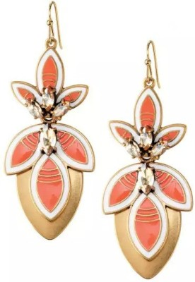 Fabula Four-in-One Gold & Orange Jewellery For Women, Girls & Ladies Metal Dangle Earring