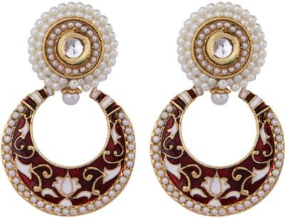 Mask Fashions Metal Chandbali Earring