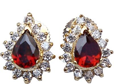 Asset Jewels Garnet Brass Stud Earring