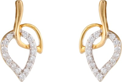 Gothis Two Leaf Gold Stud Earring