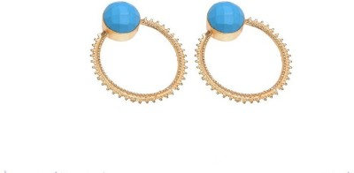 Gharaz Semi precious stones studd Brass Drop Earring