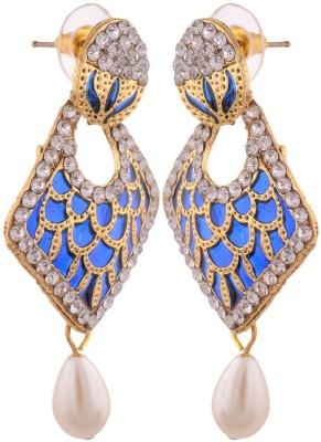 Grandiose Gold Plated Copper Drop Earring