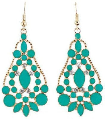 Fashionography The Hot Green Alloy Dangle Earring