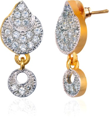 Fashion Fusion ES006502A Aafreen Cubic Zirconia Brass, Alloy Drop Earring