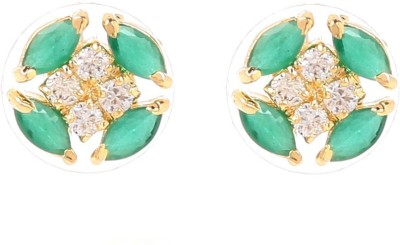 Tsquare Sonica Brass Stud Earring