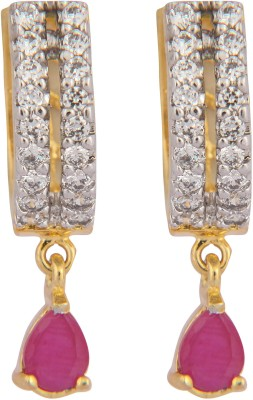 Vama Cubic Zirconia Alloy, Brass Drop Earring