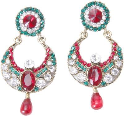 Gehnewala Ethnic Multicolor Brass Chandbali Earring