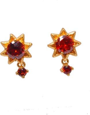 PFJ PFJ3052-EARRING Cubic Zirconia Brass, Copper Drop Earring