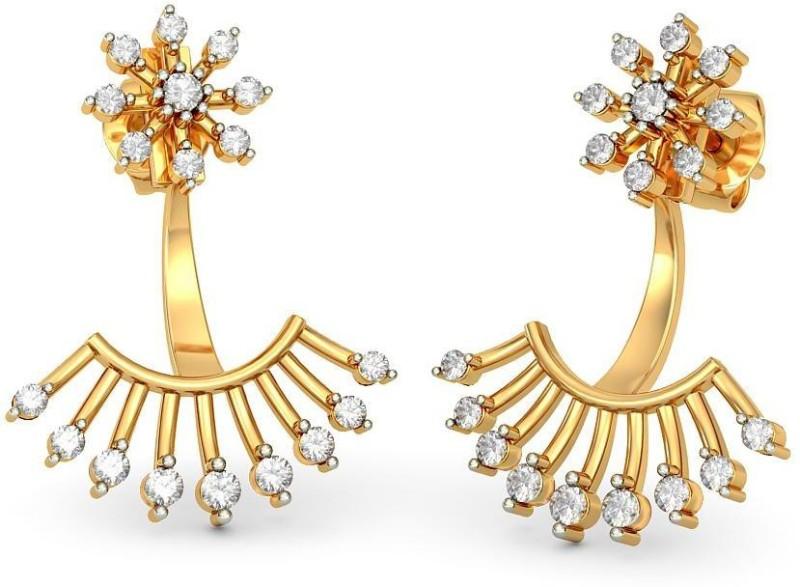 ba533eb9e Buy BlueStone Gavadani Yellow Gold 14kt Diamond, Pearl Stud Earring ...