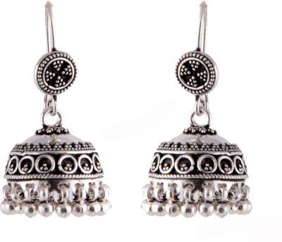 Aashirwad Hook Silver Jhumki Earring