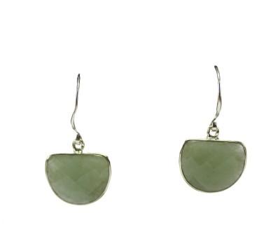 GnJ Single Stone Chalcedony Sterling Silver Dangle Earring