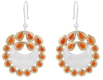 VelvetCase Traditional Carnelian Gemstone Earrings Carnelian Silver Hoop Earring