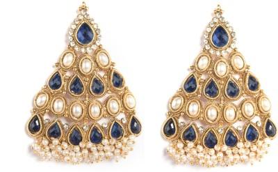 Saraa Pearl Loaded Cubic Zirconia Metal Jhumki Earring