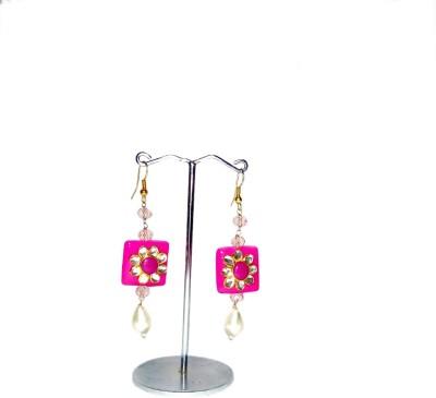 Shalini jewlles fashionable jhumki Crystal, Beads Metal Dangle Earring