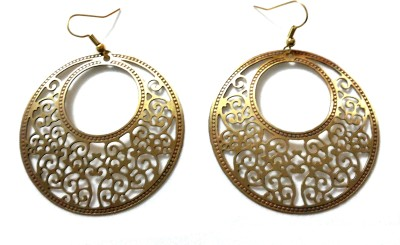 Priyangi Fashion Era Circle of Life Brass Dangle Earring