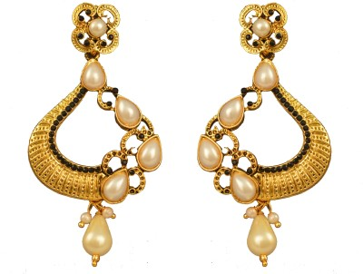 Graykart Bollywood South Indian Stylish Gold Plated Beautiful Ethnic Designer Alloy, Zinc Drop Earring