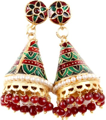 99HomeMart Traditional Work Pearl Alloy Jhumki Earring