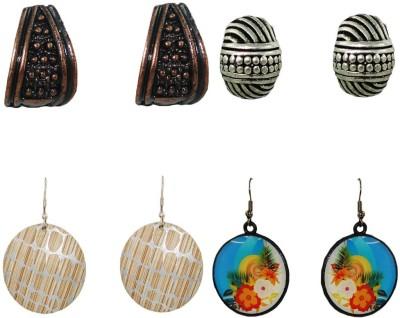 Anjan Marvellous Designer Combo 4 Piece Brass Earring Set