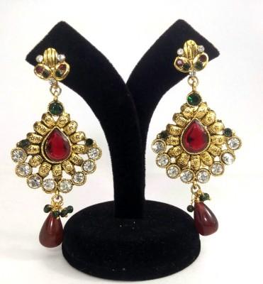 K&G Spring Sparkle Ruby Copper Chandelier Earring