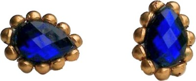 Make My Jhumkas The Royal Blue Paper Stud Earring