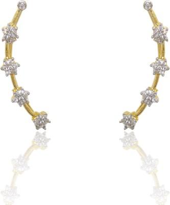 Chandrika Pearls Bluetooth Cubic Zirconia Copper Cuff Earring