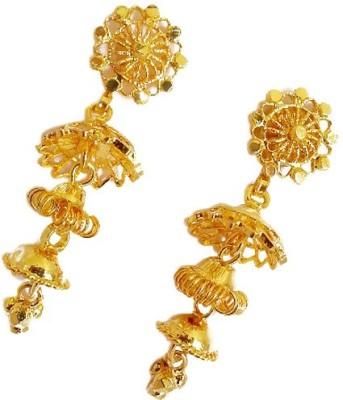 Gorgious Antique Brass Jhumki Earring