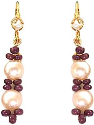 SJ Pearls Hanging Pearl Alloy Dangle Earring
