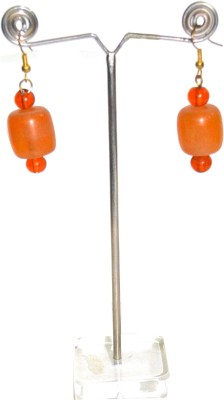 Deal And Gift One BIg Bead Resin Drop Earring