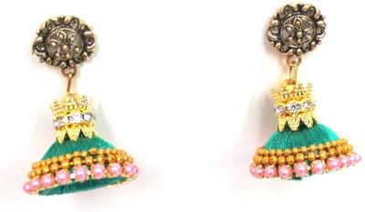 Craftworks jimuka Beads Silk Dori Jhumki Earring