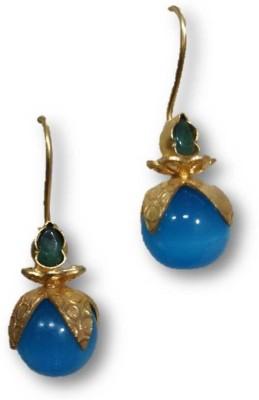 Rajgharana Blue Drop Cubic Zirconia Alloy Drop Earring