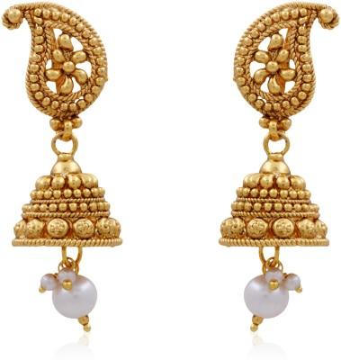 Hyderabad Jewels Beautiful Jhumka Pearl Copper Jhumki Earring